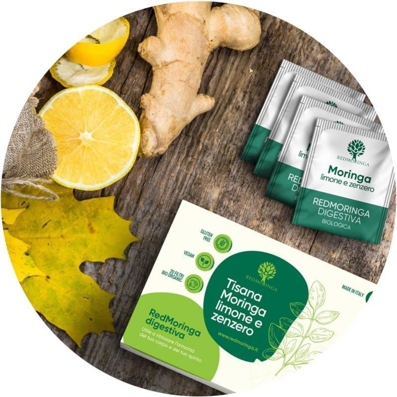 Tisana Digestiva Moringa Zenzero e Limone BIO
