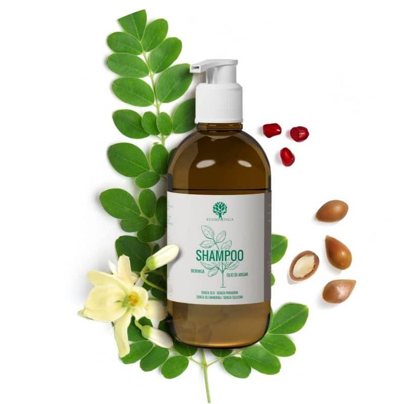 Shampoo alla Moringa per tenere puliti capelli
